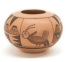 Britney Eustace (Zuni) Parrot Hopi Bowl Heard Guild Student Art Show & Sale