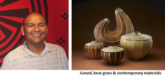 Terrol_Johnson_-_Gourd,_Bear_Grass_Basktery