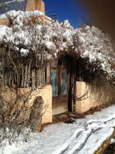 Santa Fe house in Snow